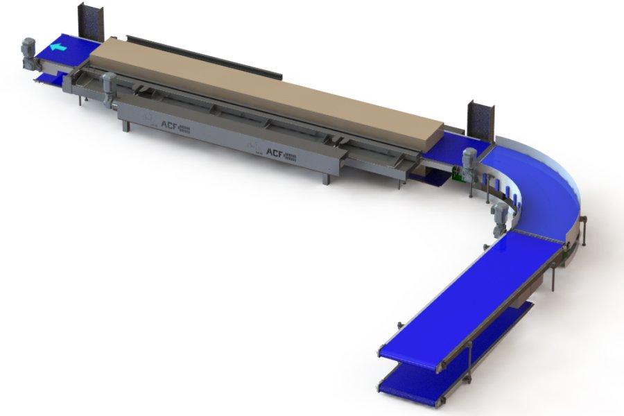 Modular Belt Bend Conveyor Solution